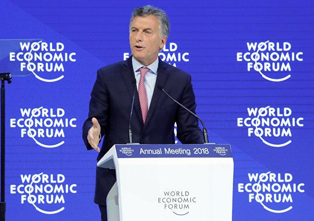 Mauricio Macri, el presidente de Argentina en el Foro Económico de Davos