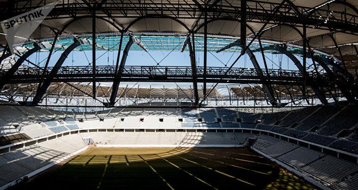 La construcción del estadio Volgograd Arena