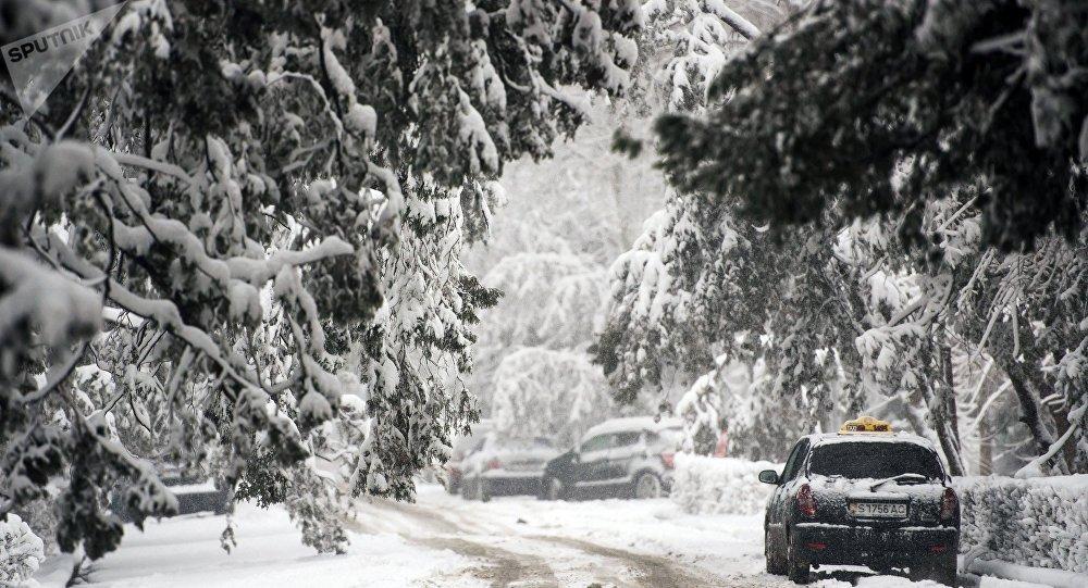 La situación meteorológica en Biskek, Kirguistán