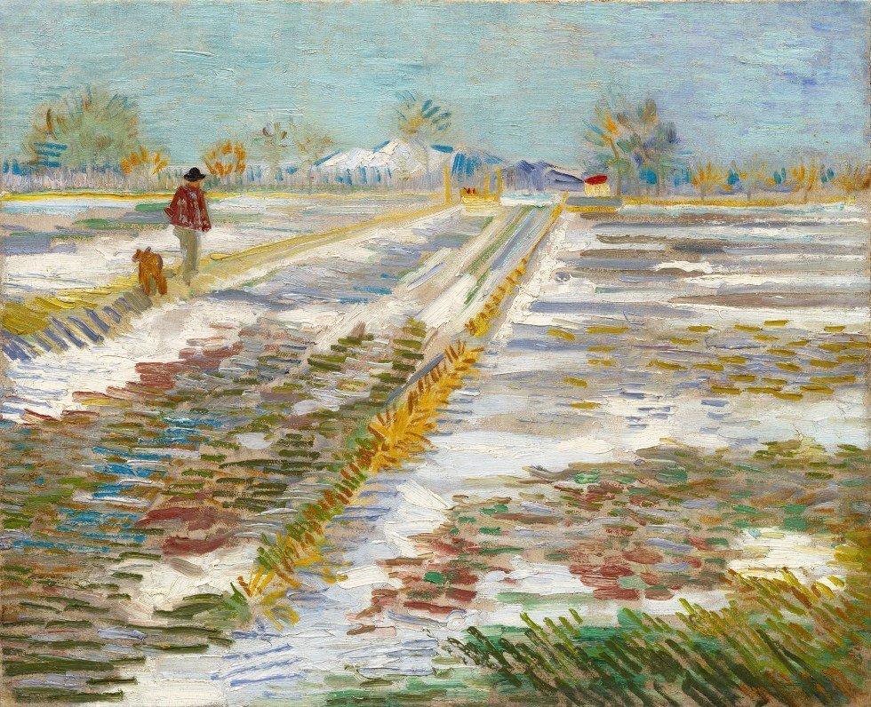 Paisaje nevado de Vincent Van Gogh, 1888