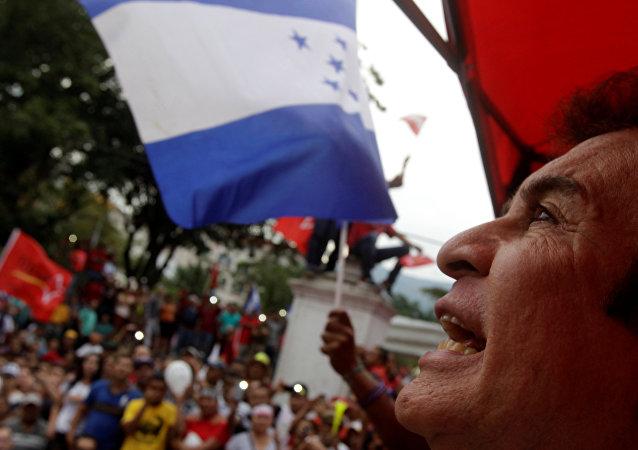 Protesta en Honduras (archivo)