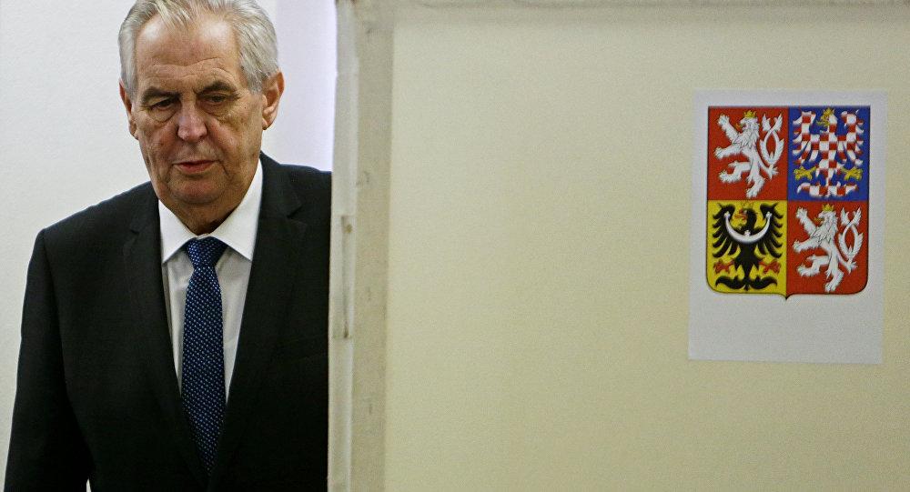 El mandatario checo, Milos Zeman