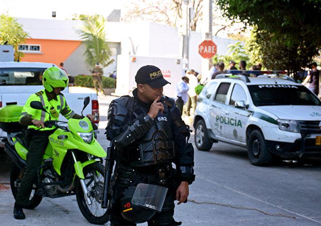 Lugar del atentado en Barranquilla, Colombia