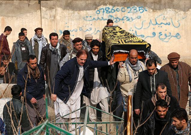Funeralesde de las víctimas del atentado en Kabul