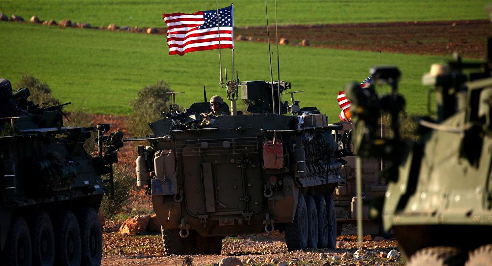 Militares estadounidenses en Manbij, foto de archivo