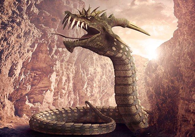Un dragón, imagen referencial