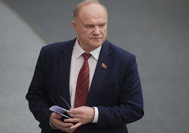 Guenadi Ziugánov, el líder del Partido Comunista de Rusia (KPRF)