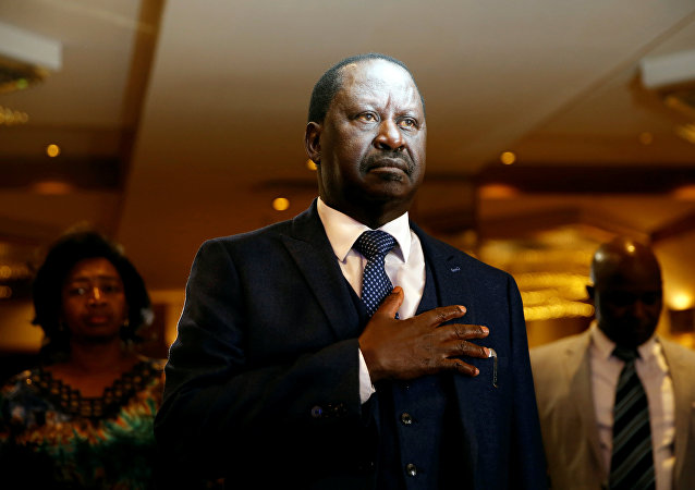 Raila Odinga, el líder opositor del partido NASA (National Super Alliance)