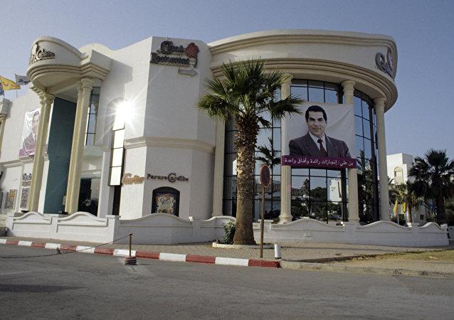 La imagen de Zine Abidine Ben Hamda Ben Ali, expresidente de Túnez