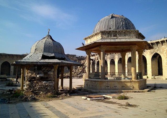 La Gran Mezquita de Alepo (archivo)