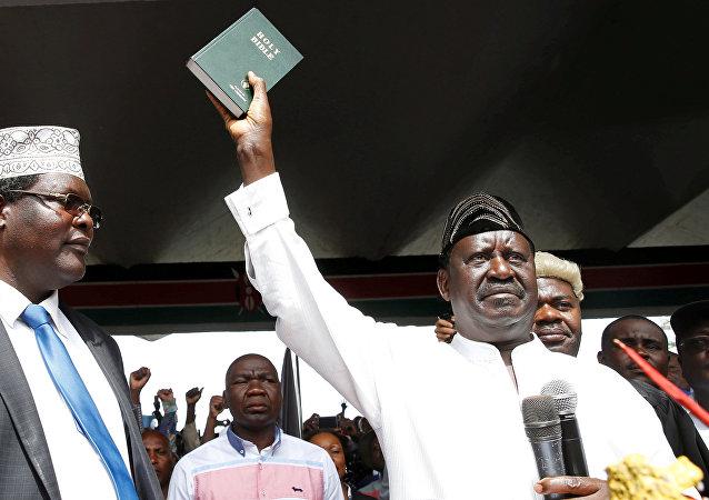 El ex primer ministro de Kenia, Raila Odinga