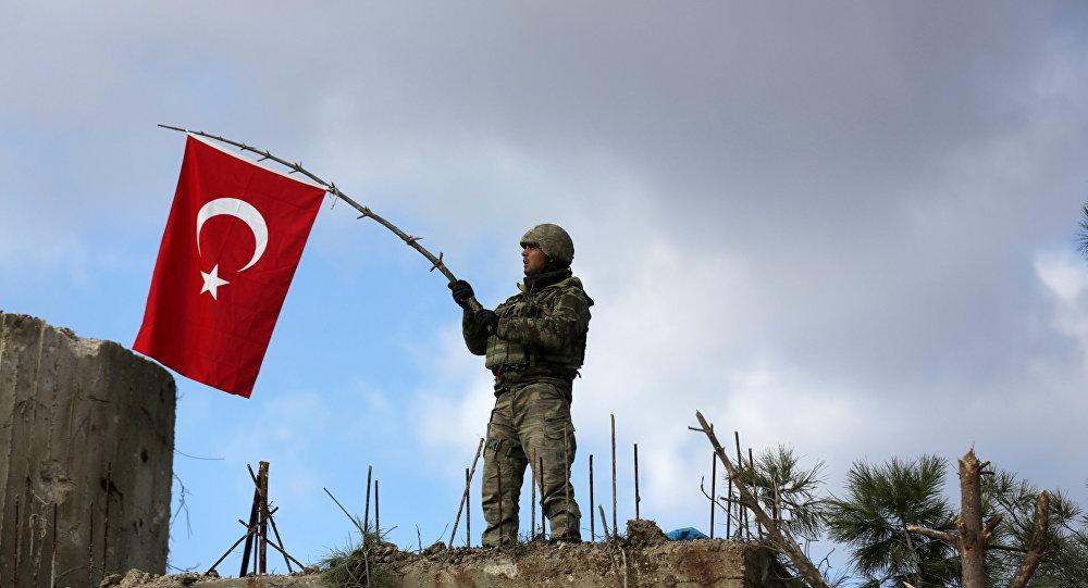 Un soldado turco en Siria