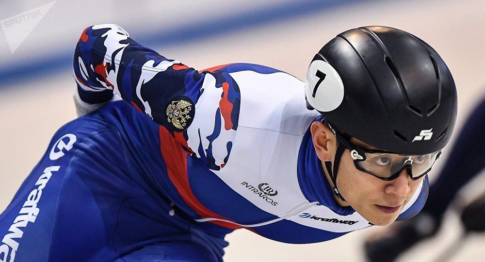 Víctor Ahn, patinador ruso de velocidad en pista corta