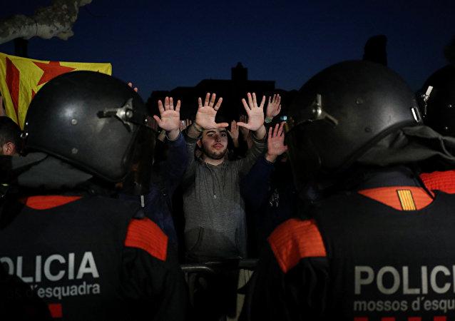 La policía catalana, Mossos d'Esquadra