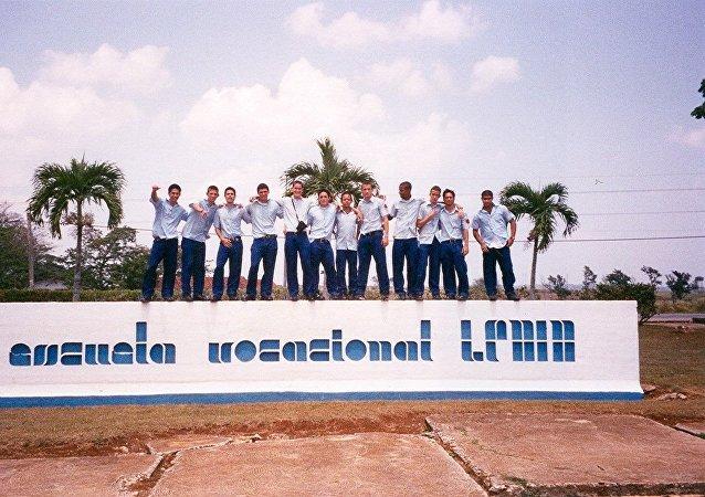 Alumnos de la escuela Lenin