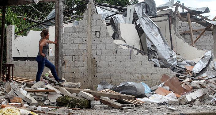 Lugar del atentado en San Lorenzo