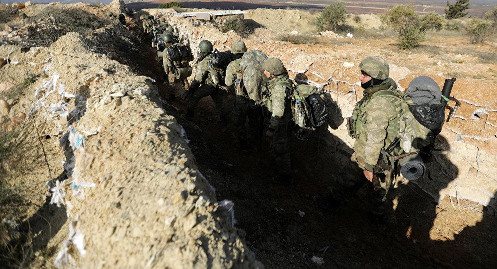 Militares turcos en Afrín