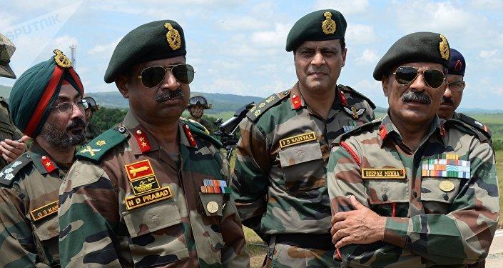 Militares indios durante su visita a Rusia, foto de archivo