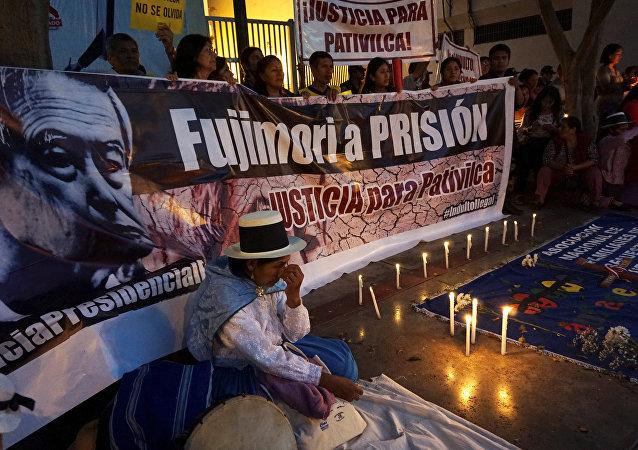Protestas contra indulto al expresidente peruano Alberto Fujimori