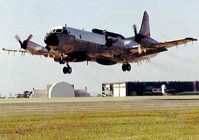 Un avión espía EP-3, foto de archivo