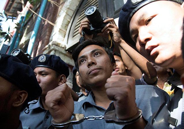 Periodista de Reuters detenido en Birmania