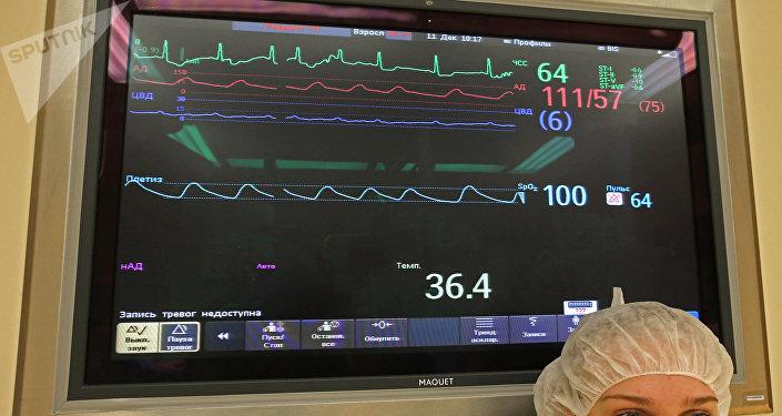 El latido del corazón de un paciente (imagen referencial)