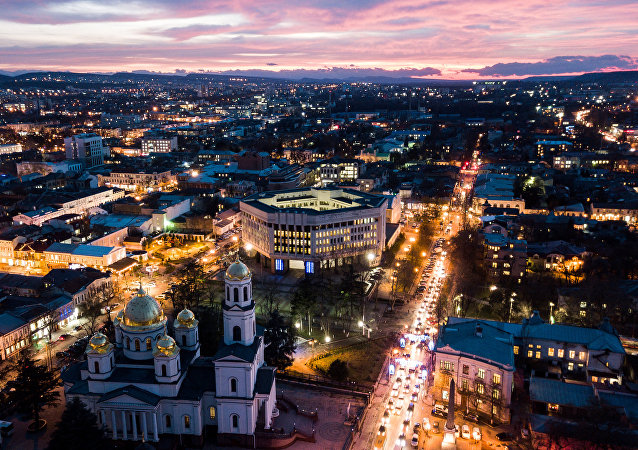 La ciudad rusa de Simferópol en Crimea