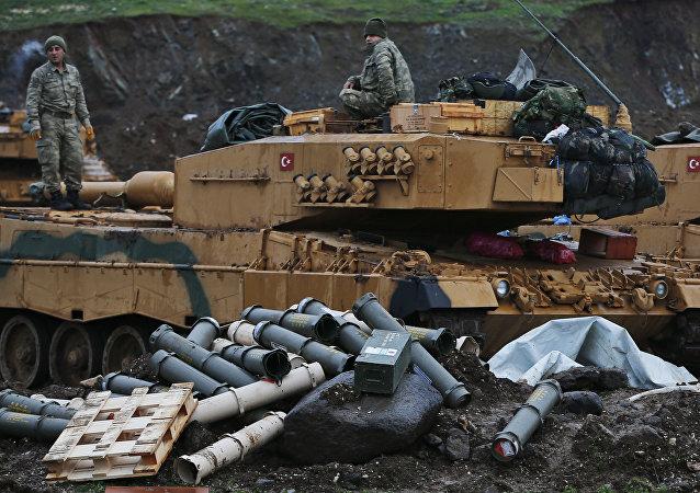 Militares turcos en Siria (archivo)