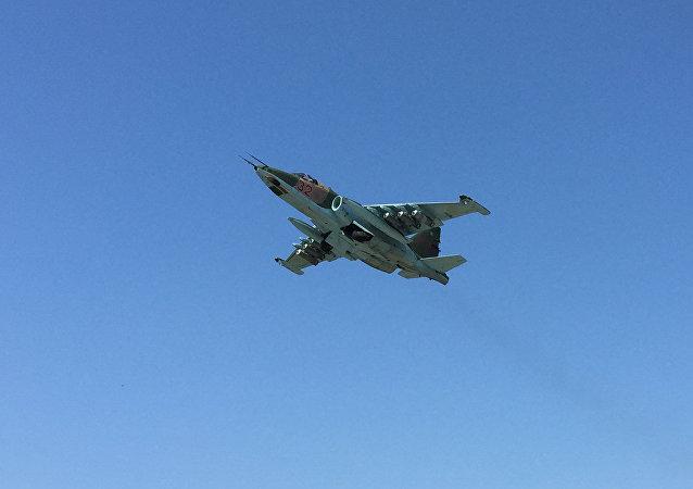 Un avión ruso Su-25 en Siria (archivo)