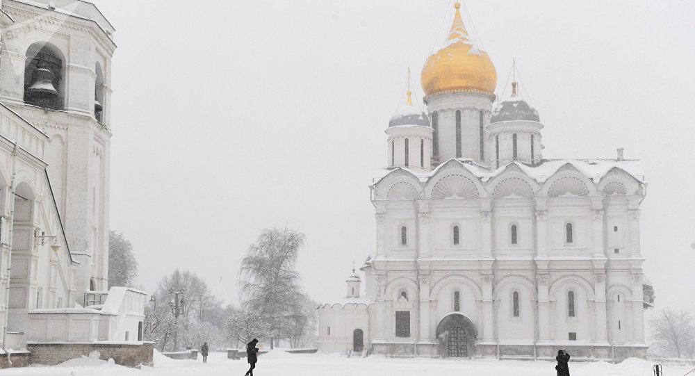 La nevada en Moscú