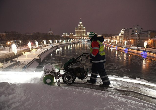 Fuerte nevada en Moscú
