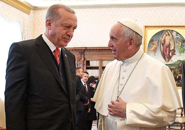 La reunión entre Papa Francisco y el presidente de Turquía, Recep Tayyip Erdogan