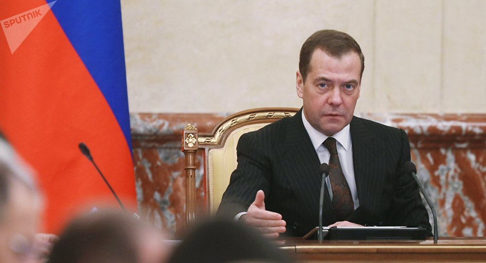 El primer ministro de Rusia, Dmitri Medvédev