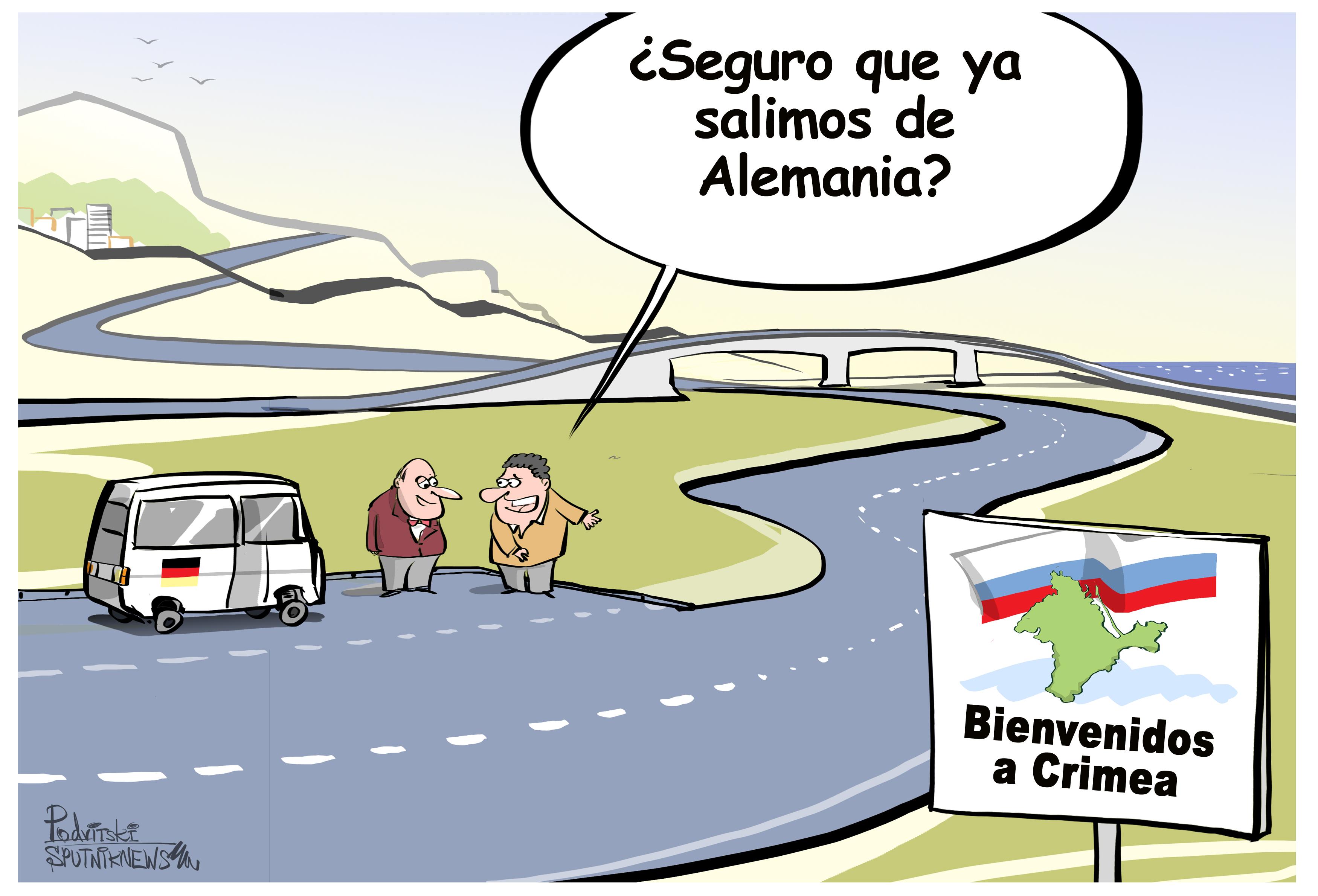 Los políticos alemanes llegan a Crimea y se quedan  boquiabiertos