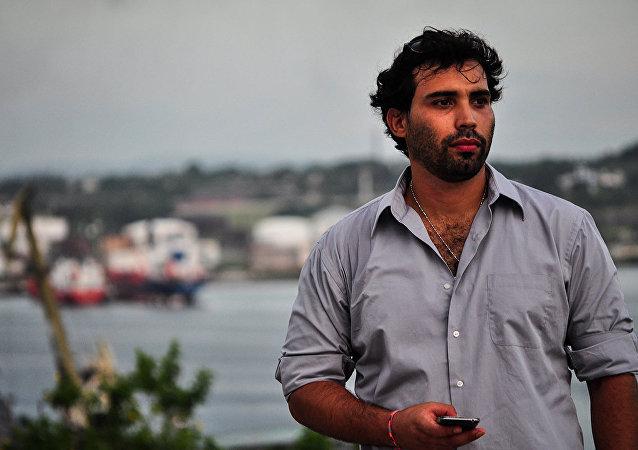 El periodista cubano Julio Batista