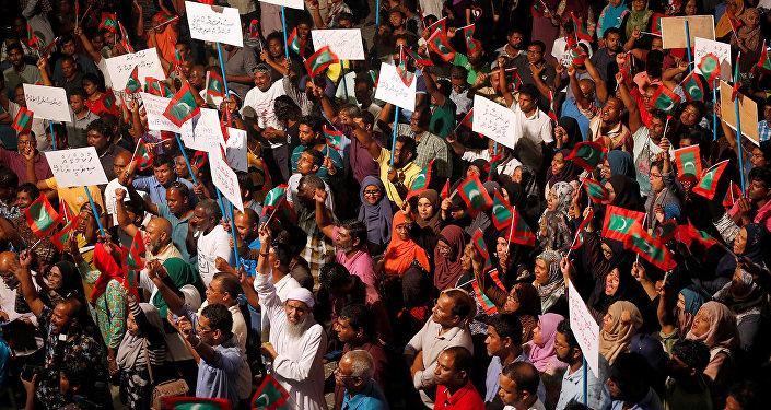 Protestas en las Maldivas