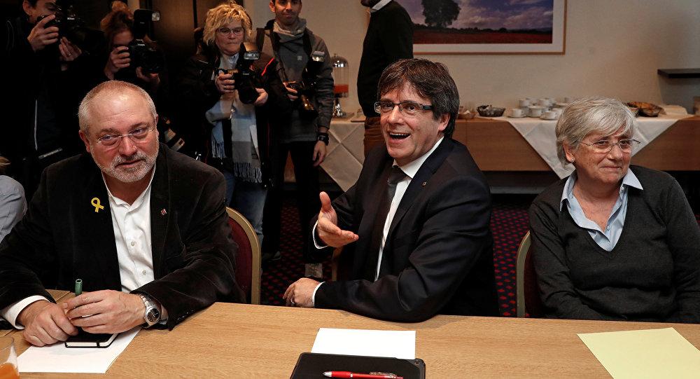 Carles Puigdemont, el líder independentista, en Bruselas