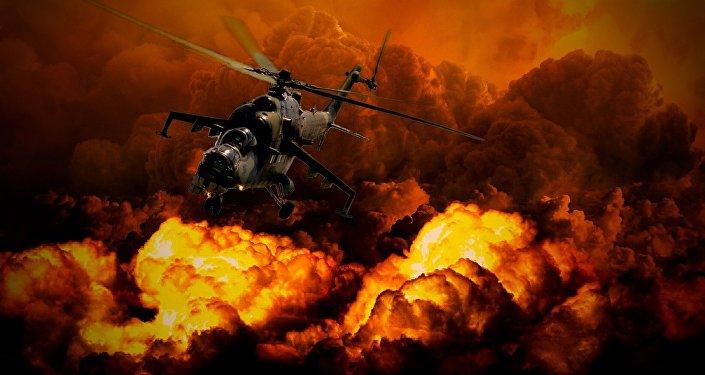 Un helicóptero (imagen ilustrativa)
