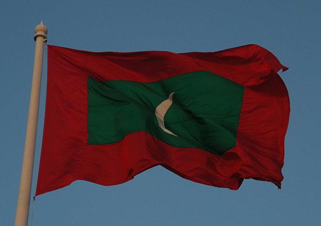 La bandera de Maldivas