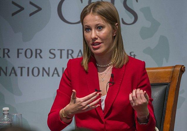 Ksenia Sobchak, periodista y presentadora de televisión, candidata presidencial