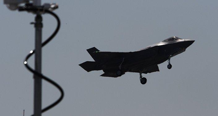 Un F-35, foto de archivo