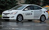 Un taxi de Uber (archivo)