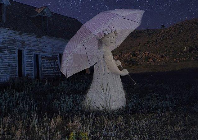 Una niña fantasma, imagen ilustrativa