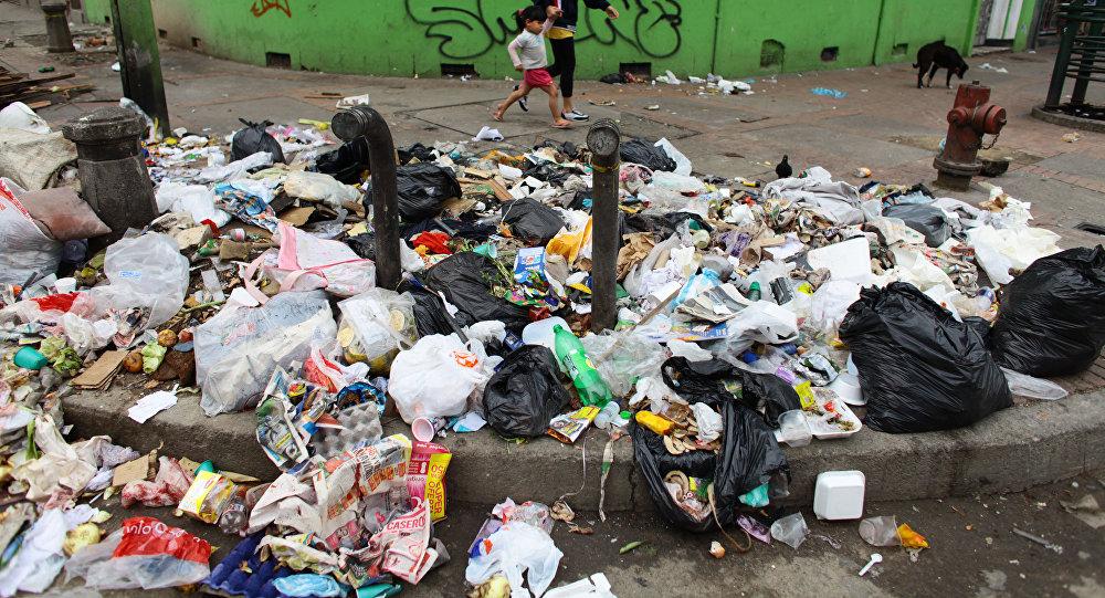 Basura en las calles de Bogotá