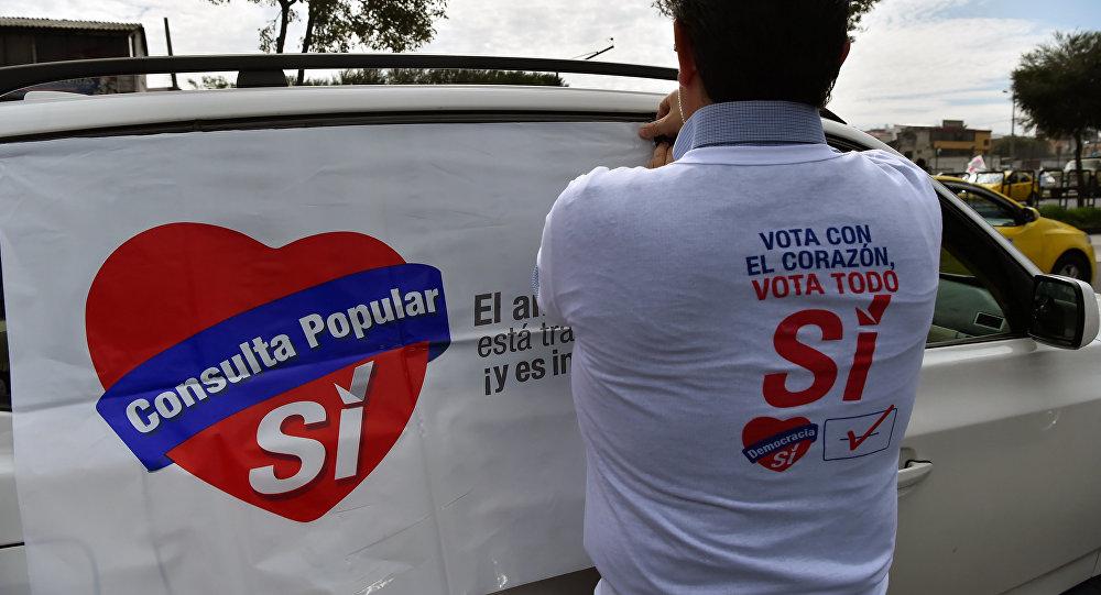 Un partidario del ´Sí´ en Ecuador (imagen referencial)