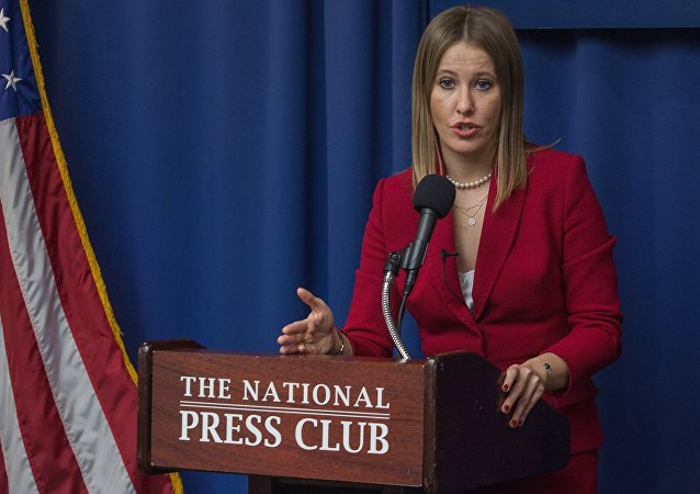 Ksenia Sobchak en Washington