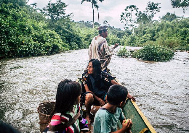 Indígenas de Amazonia (imagen referencial)