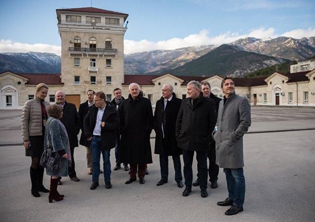 La delegación de Alemania en Crimea