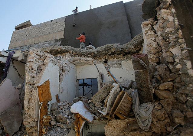 Edificios destruidos en Mosul