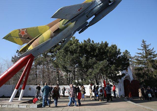 La acción en memoria del piloto asesinado en Siria, Román Filípov